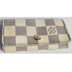 Authentic Preowned LV Damier Azur Key Chain